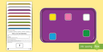 What's on the Tray? Common Colours Memory Activity Pack - , auditory memory activities, memory games for retainment, visual memory games, auditory memory game