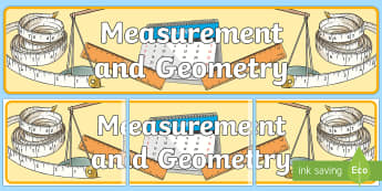 Measurement and Geometry Display Banner - Australian Curriculum Mathematics Display Banners, measurement, geometry, measurement and geometry,