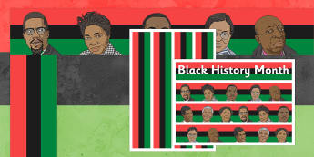 Black History Month Display Borders - display borders, black, history