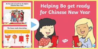 Dragons in the City Helping Bo Get Ready for Chinese New Year PowerPoint - Twinkl Originals, fiction, Chinese New Year, Mandarin, culture, China, EYFS, Early Years, Chinese ce