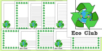 Eco Club Page Borders - eco club, extracurricular, club, page borders