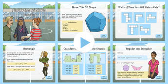 Year 5 Properties of Shapes Maths Warm-Up PowerPoint - KS2 Maths warm up powerpoints, y5, year 5, year five, properties of shape, 2014 National Curriculum