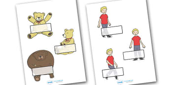 Editable Self-Registration Labels (Where's My Teddy) - Self registration, register, editable, labels, registration, child name label, printable labels, Where's My Teddy, teddy, woods, forest, lost, bear, reading, story, story book, story resources