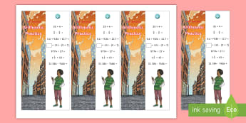 SATs Survival: Year 6 Arithmetic Practice Maths Bookmarks Pack 4 - sats survivial, sats revision, sats practice, sats practise, maths revision, arithmetic, mental calc