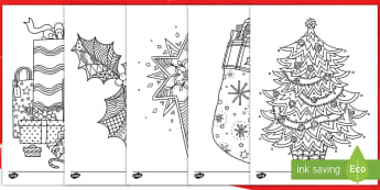 Christmas Themed Mindfulness Colouring Pages English/Mandarin Chinese - Ccolouring, pd, fine motor skills, well being, stress, relax, unwind, early years, ks1, ks2, art, ho