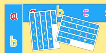 ABC Display Borders - alphabet, A-Z, literacy, display borders, borders, classroom borders