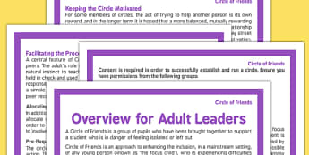 Circle of Friends Overview for Adult Leaders - circle of friends, overview, adult, leaders