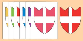 House Shields Cut Outs - house shields, house, shield, cut outs, activity