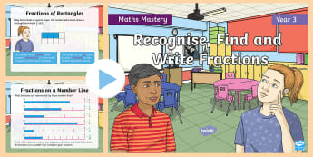 Year 3 Fractions as Numbers Maths Mastery PowerPoint - Reasoning, Greater Depth, Abstract, Problem Solving, Explanation, y3, ks2, white rose, singapore mat