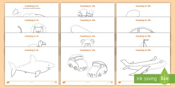 Counting in cents Dot-to-Dot Activity Sheet - transport, cents, counting, dot to dot, south african currency, worksheet