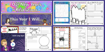 KS1 First Day Back after Christmas Resource Pack - new year, resolutions, January, after Christmas, Spring term