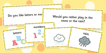 Circle Time Choice Cards - visual, choices, activity, activities