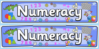 Numeracy Display Banner - Maths Area, Classroom Area Signs, KS1, math, Banner, Foundation Stage Area Signs, Classroom labels, Area labels, Area Signs, Classroom Areas, Poster, Display, Numeracy, Maths, Maths signs, Foundation numeracy, problem solvin