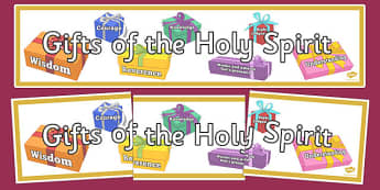 Gifts of the Holy Spirit Display Banner - Gifts of Holy Spirit, Banner, Display, Confirmation, Catholic