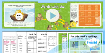 PlanIt Spelling Year 4 Term 3A W4: Adding the Prefix Ex- Spelling Pack - Spellings, Year 4, Term 3A, W4, prefixes, ex-, word families