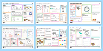 Year 2 Maths Activity Mat Activity Pack - Year 2 Maths Activity Mat Activity Pack -yr 2, y2, Summer Maths Activity Mats, practise, assessment,