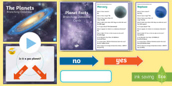 Planets Branching Database Activity Pack - Animation, branching database, interrogate, question, sort, planets, characteristics, identify, info