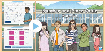 Year 5 Number and Place Value Maths Warm-Up PowerPoint - KS2 Maths warm up powerpoints y5, year 5, maths, number, place value, rounding, roman numerals, warm