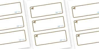 Lark Themed Editable Drawer-Peg-Name Labels (Blank) - Themed Classroom Label Templates, Resource Labels, Name Labels, Editable Labels, Drawer Labels, Coat Peg Labels, Peg Label, KS1 Labels, Foundation Labels, Foundation Stage Labels, Teaching Labels