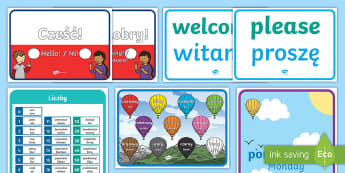 Learn Polish Display Pack - Language Packs, polish, phrase, words, vocabulary