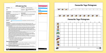 EYFS Favourite Toys Pictogram Adult Input Plan and Resource Pack - Toy, gifts, play, games, pictogram, graph, chart, tally, data, data handling, favourite,