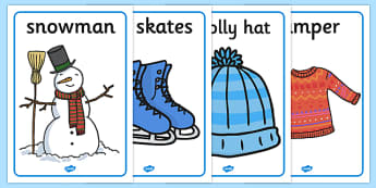 Winter Topic Display Posters - Arctic, winter, xmas, display poster, A4, display, skis, ice skates, polar bear, whale, penguin, huskey, snow, winter, frost, cold, ice, hat, gloves