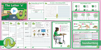 The Journey to Continuous Cursive: The Letter 'o' (Curly Caterpillar Family Help Card 9) KS2 Activity Pack - handwriting, Nelson handwriting, penpals, fluent, joined, legible, letterjoin,