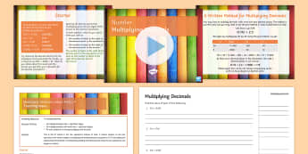Half Term 1: Number Lesson Pack 19: Multiplying Decimals - Product, Place, Value, Times, Problems