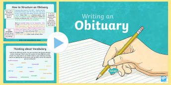 autobiography, biography, roald dahl, non-fiction, reports  - KS2 Obituary Writing PowerPoint