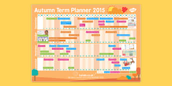 Autumn Term 2015 Calendar Planner - autumn term, calendar, plan