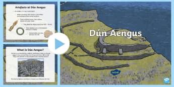 Dún Aengus PowerPoint - ROI - Dún Aonghusa, bronze age, fort, dun aengus, aran islands, inishmore, galway,Irish