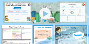 French: That's Tasty!: I'm Thirsty Year 5 Lesson Pack 1 - french, languages, grammar, thirsty, drinks