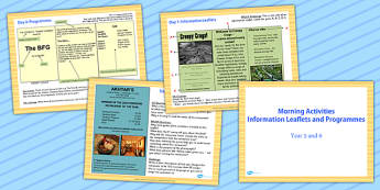 English Morning Activities Informative Leaflets