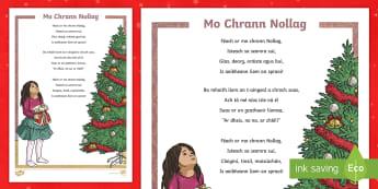 Christmas Tree Poem Gaeilge - Christmas tree, Christmas, Nollag, Crann Nollag, Dán, Poem,Irish