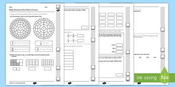 Year 4 Maths Assessment: Number Fractions Term 3 - year 4, maths, assessment