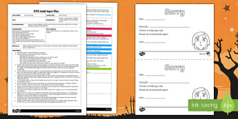 EYFS Sorry Stones Adult Input Plan and Resource Pack