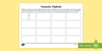 Fantastic Flipbook Worksheet / Activity Sheet - CfE Digital Learning Week (15th May 2017) Digital learning and teaching strategy animationflipbookca