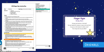 EYFS Sticky Stars Finger Gym Plan and Prompt Card Pack - stars, hair gel, messy play, fine motor control, funky fingers, tweezers