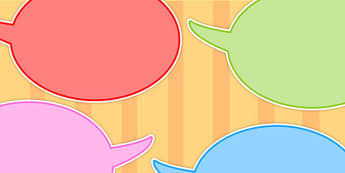 Editable Multicolour Speech Bubbles - multicolour, bubble, speech