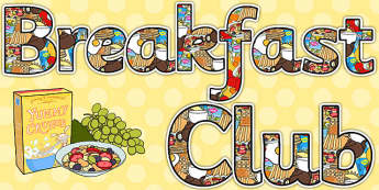 Breakfast Club Display Lettering - breakfast club, display, lettering