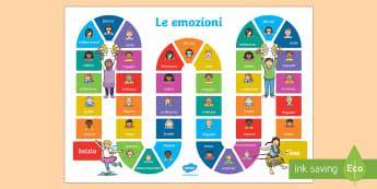 Le Emozioni Gioco da Tavola - noi, stessi, gioco, da, tavola, emozioni, sentimenti, giocare, italiano, italian, materiale, scolast