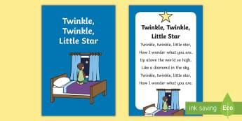 Twinkle Little Star Nursery Rhyme IKEA Tolsby Frame