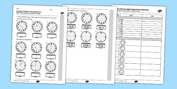 KS2 Reasoning Test Practice Read Write and Convert 24 Hour Times - Key Stage 2, KS2, Reasoning, Test, Practice, Measurement, Time