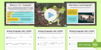 Writing Paragraphs with a DASH?: Creating Tension, Suspense and Atmosphere in Fantasy Paragraphs Resource Pack - DADWAVERS, literacy shed, paragraphs, openers, setting, imaginary, unrealistic