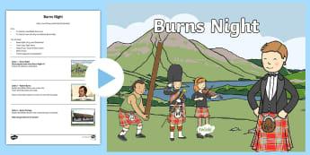 Burns Night Early Level Assembly Pack - Robert Burns, Burns Supper, Rabbie Burns, Scots Poems, Scottish, Poetry, Scots songs, Haggis, Scotla