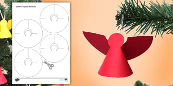 Îngeraș de hârtie Activitate - Crăciun, activități manuale, jucării de crăciun, machete, Romanian