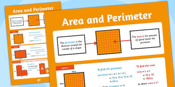 Large Area and Perimeter Poster - area, perimeter, display poster