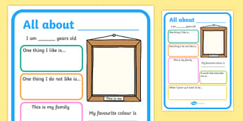 All About Me Poster - all about me, me poster, poster about me, ourselves poster, poster about ourselves, design a poster, poster template, poster activity