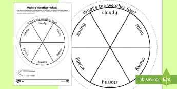 Make a Weather Wheel Activity Sheet