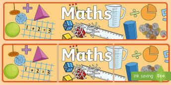 Maths Display Banner English/Mandarin Chinese - Maths Display Banner - mathematics display banner, maths display banner, maths banner, Mathsdisplay